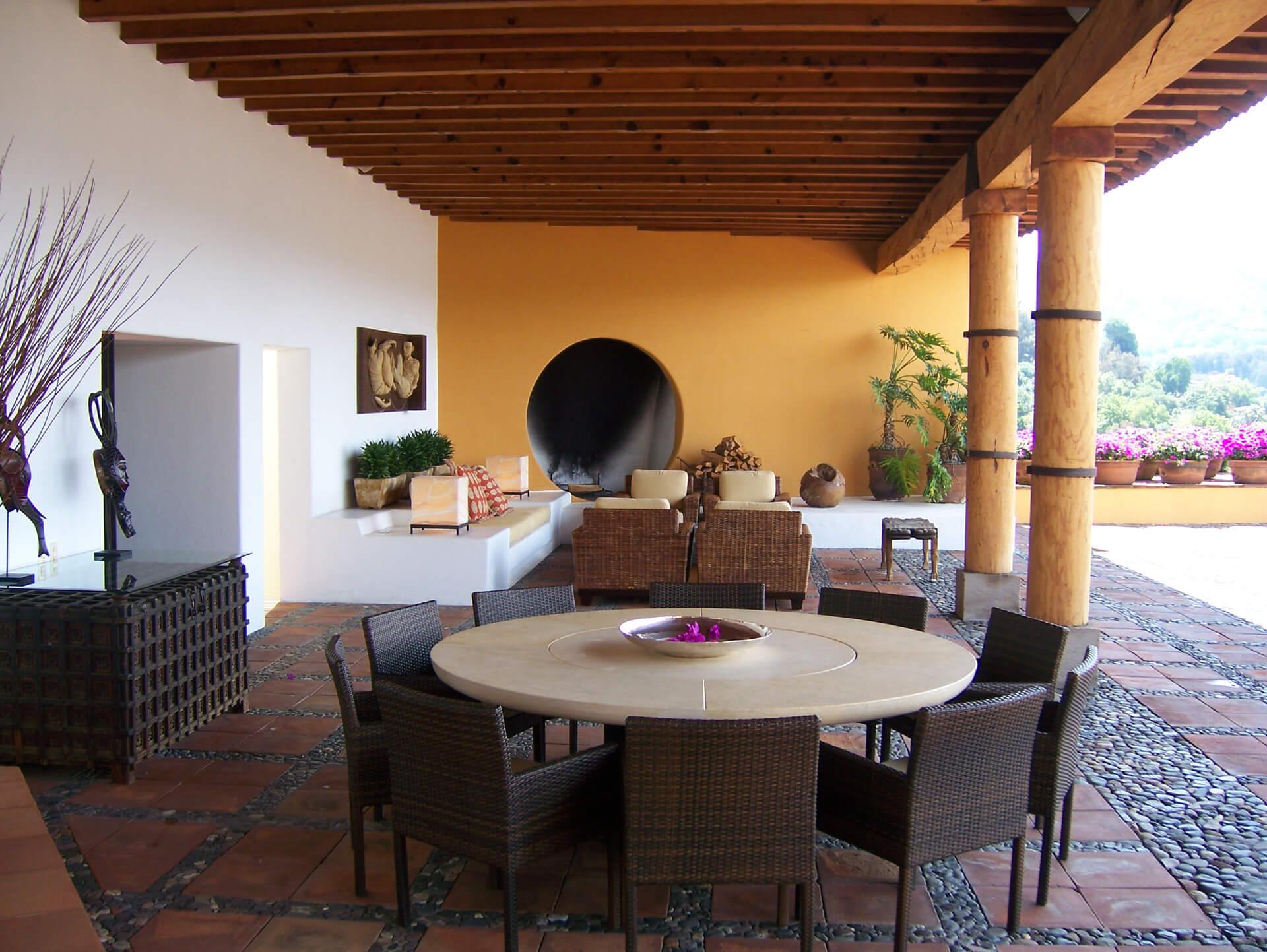 Estilo Mexicano Valle De Bravo Azul Hicks # Muebles Valle De Bravo